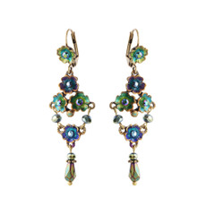 Michal Negrin Petal Drops Earrings - Multi Color