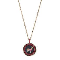 Michal Negrin Ram Zodiac Necklace - Multi Color