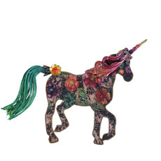 Michal Negrin Unicorn Brooch - Multi Color