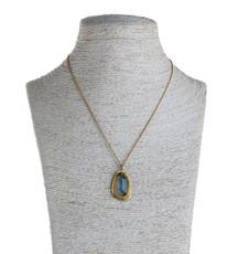 Nava Zahavi Imagination Aquamarine Gold Necklace - New Arrival