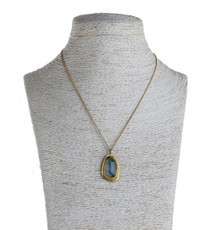 Nava Zahavi Imagination Aquamarine Gold Necklace - New Arrival
