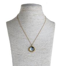 Nava Zahavi Blue Heart Gold Necklace - New Arrival
