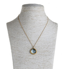 Nava Zahavi Blue Heart Gold Necklace - New Arrival