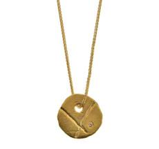 Brilliant Sun Gold and Diamond Necklace by Nava Zahavi - New Arrival