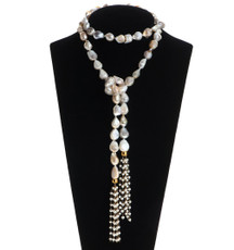 Wild Pearl Necklace by Nava Zahavi - New Arrival