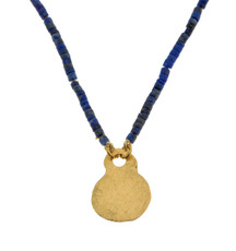 Lapis and Pure Gold Necklace by Nava Zahavi - New Arrival