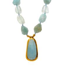 Sea of Love Aquamarine Necklace - New Arrival