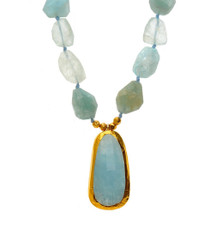 Sea of Love Aquamarine Necklace - New Arrival