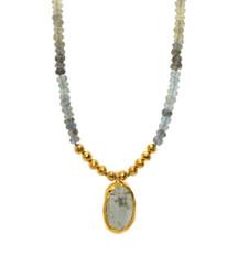 Stormy Day Aquamarine Necklace by Nava Zahavi - New Arrival