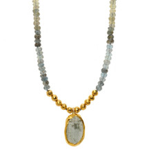 Stormy Day Aquamarine Necklace by Nava Zahavi - New Arrival