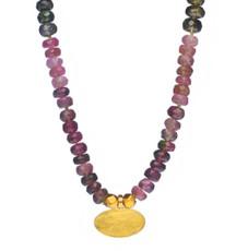 Tourmaline and Gold Necklace by Nava Zahavi - New Arrival