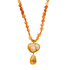 Sunshine Hessonite and Ruthilated Necklace by Nava Zahavi - New Arrival