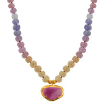 Festiva Sapphire and Tourmaline Necklace by Nava Zahavi - New Arrival