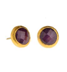 Ruby stud Earrings by Nava Zahavi - New Arrival
