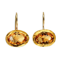 Golden Citrine Earrings by Nava Zahavi