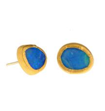 Opal stud Earrings by Nava Zahavi - New Arrival