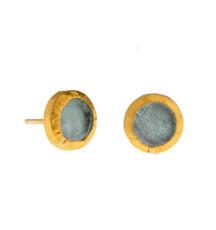 Aquamarine stud Earrings by Nava Zahavi - New Arrival