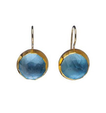 December Birthstone Blue Topaz Earrings by Nava Zahavi - New Arrival