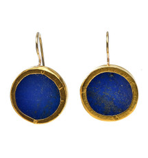 Round Lapis Earrings - New Arrival