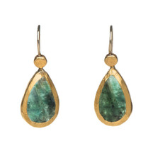 Wisdom of the Emerald Earrings by Nava Zahavi - New Arrival