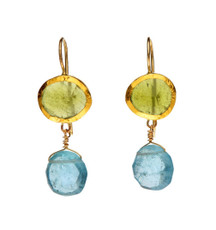 Botanic Bassonite and Aquamarine Earrings by Nava Zahavi - New Arrival