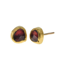 Garnet Vine stud Earrings by Nava Zahavi - New Arrival