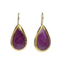 Large Drop Ruby Earrings by Nava Zahavi - New Arrival