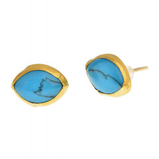 Evil Eye Turquoise Earrings by Nava Zahavi - New Arrival