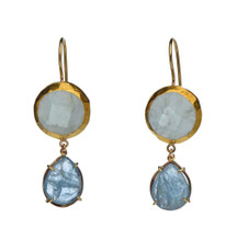 Exclusive Aquamarine Earrings by Nava Zahavi - New Arrival