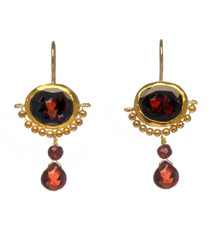 Garnet Crown Earrings by Nava Zahavi - New Arrival