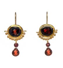 Garnet Crown Earrings by Nava Zahavi - New Arrival