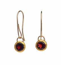 Garnet Vine Drop Earrings by Nava Zahavi - New Arrival