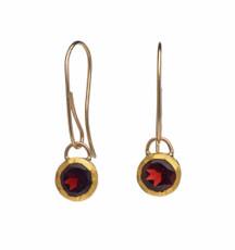 Garnet Vine Drop Earrings by Nava Zahavi - New Arrival