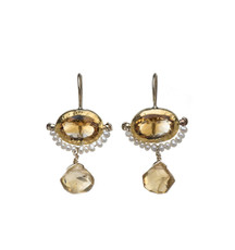 Golden Eye Earrings by Nava Zahavi - New Arrival