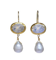 Memories Moonstone and Pearl Earrings - New Arrival