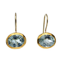 Radiant Blue Topaz Earrings by Nava Zahavi - New Arrival