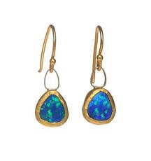 Sparkle Opal Earrings by Nava Zahavi - New Arrival