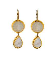 Wishful Moonstone Earrings by Nava Zahavi - New Arrival