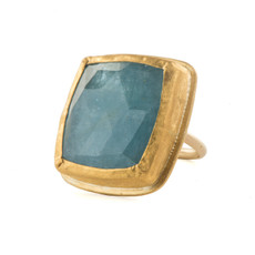 Giant Aquamarine Ring by Nava Zahavi - New Arrival