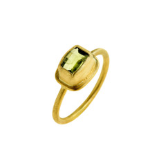 Perfect Peridot Ring by Nava Zahavi - New Arrival