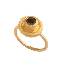 Golden Spot Ring by Nava Zahavi - New Arrival