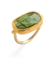 Evergreen Tourmaline Gold Ring - New Arrival