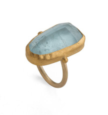Mountain Spirits Aquamarine Ring by Nava Zahavi - New Arrival