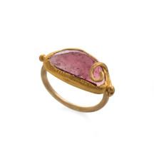 Grateful Pink Tourmaline Gold Ring by Nava Zahavi