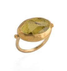 Nava Zahavi Endless Green Tourmaline Gold Ring - New Arrival