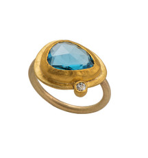 Lagoona Gold Ring by Nava Zahavi - New Arrival