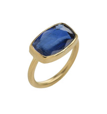 Intensive Kyanite Gold Ring by Nava Zahavi - New Arrival