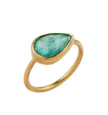Tears of Emerald Ring by Nava Zahavi - New Arrival
