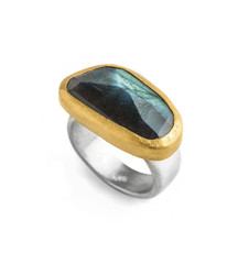 Timeless Labradorite Ring by Nava Zahavi - New Arrival