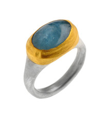 Aquamarine Faithful Ring by Nava Zahavi - New Arrival
